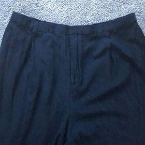 Ellen Tracy dark blue silk dress pants 22
